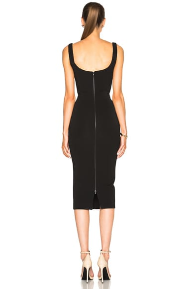 Dense Rib Deep Back Fitted Dress