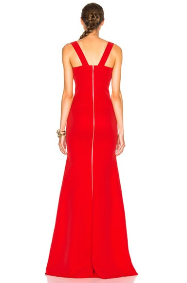 Double Crepe Camisole Floor Length Dress