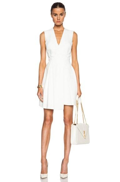 Victoria Beckham Asymmetric Drape Mini Dress in White