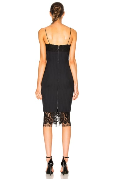 Pin Tailoring & Lace Dress