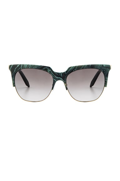 Victoria Beckham Layered Combination Square in Green Marble