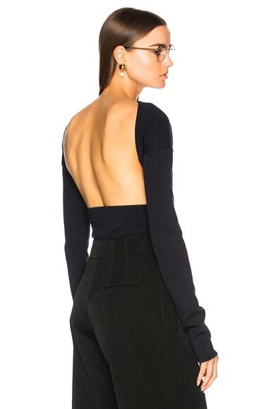 Wool Jersey Backless Bodysuit