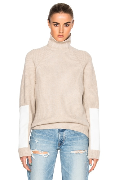 Lambswool Military Patch Sleeve Jumper