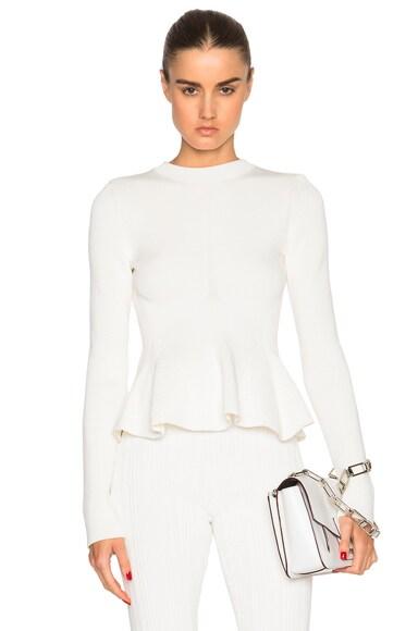 Victoria Beckham Cotton Rib Corset Jumper in White