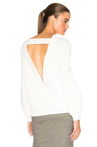 Victoria Beckham Round Sleeve Jumper in White