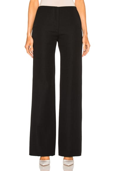 Victoria Beckham Flare Trouser in Black