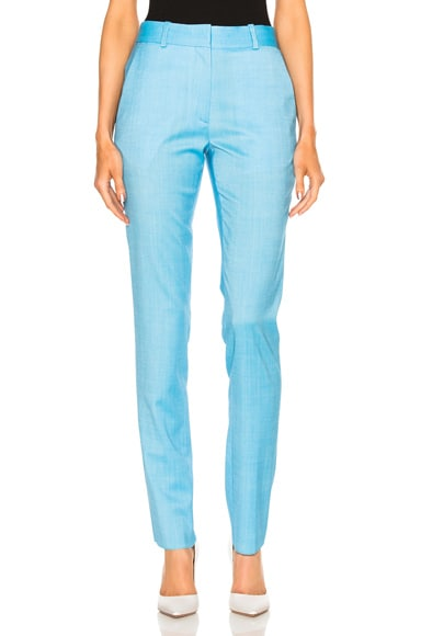 Victoria Beckham Slim Leg Trouser in Sky Blue