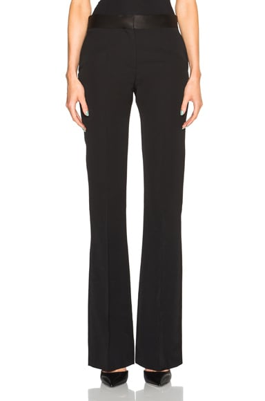 Victoria Beckham Barathea Shine Flare Trousers in Black