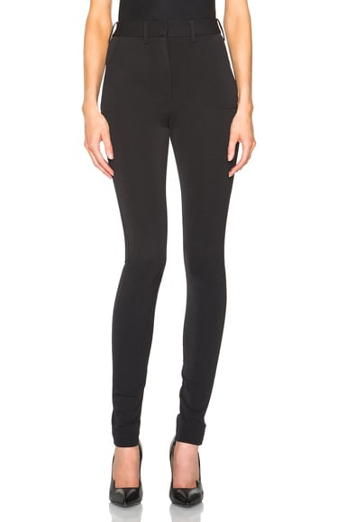 Victoria Beckham Sport Stretch Skinny Trousers in Black
