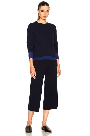 Cashmere Cable Stitch Trousers
