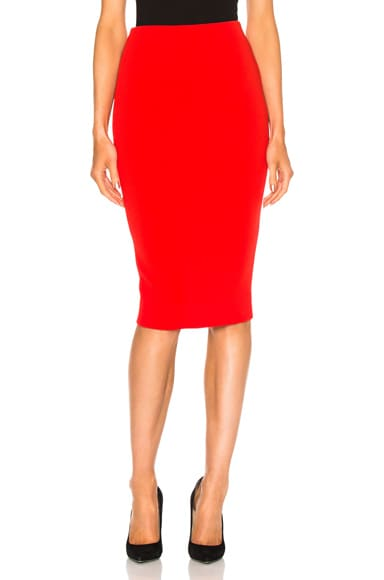 Victoria Beckham Pencil Skirt in Crimson