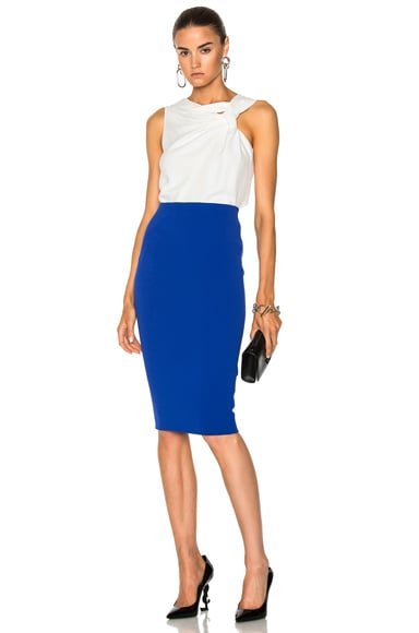 Matte Crepe Pencil Skirt