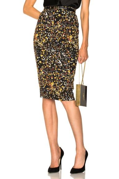 Marble Jacquard Pencil Skirt Victoria Beckham