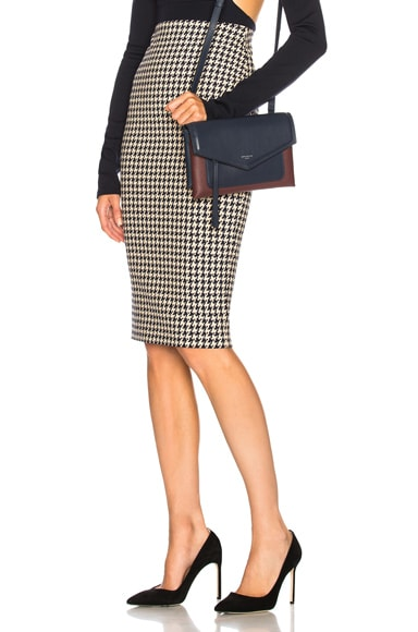 Pixel Houndstooth Pencil Skirt