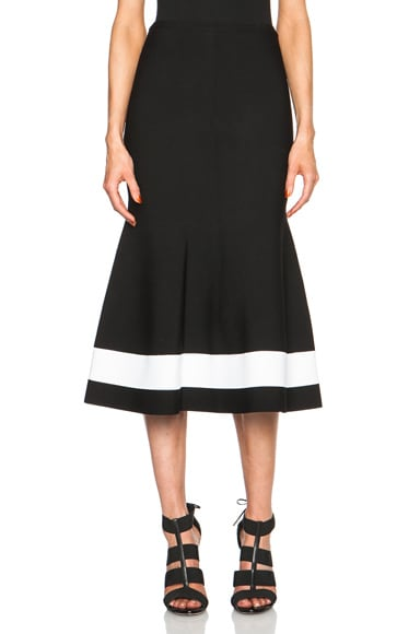 Victoria Beckham Interlock Skirt in Black & White Stripe