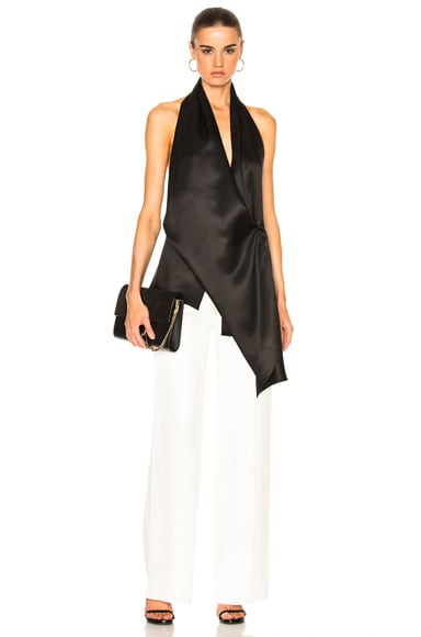 Silk Twill Draped Top