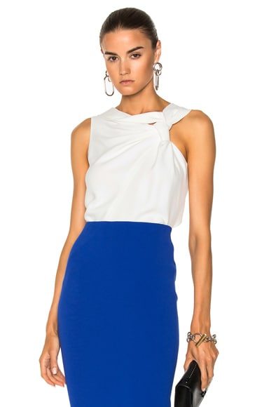 Fluid Cady Sleeveless Knotted Top