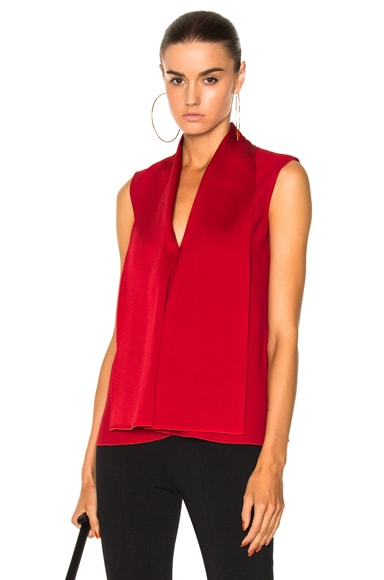 Satin Back Crepe Sleeveless Blouse