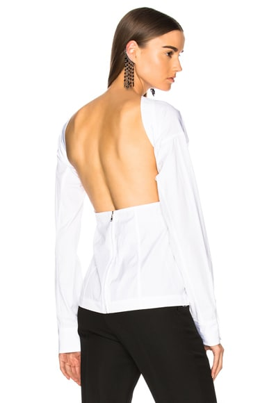 Cotton Shirting Backless Blouse