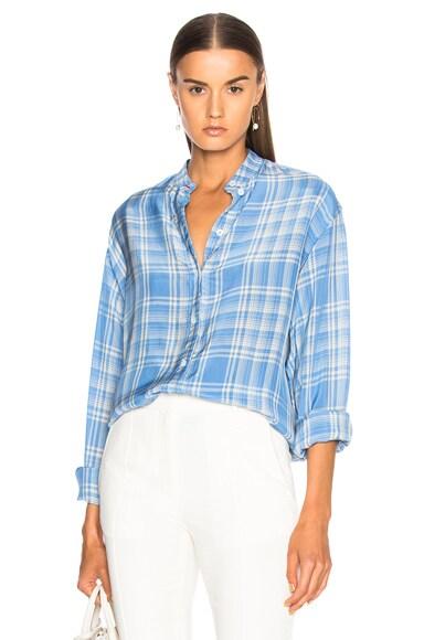 Stripe Shirting Grandad Shirt