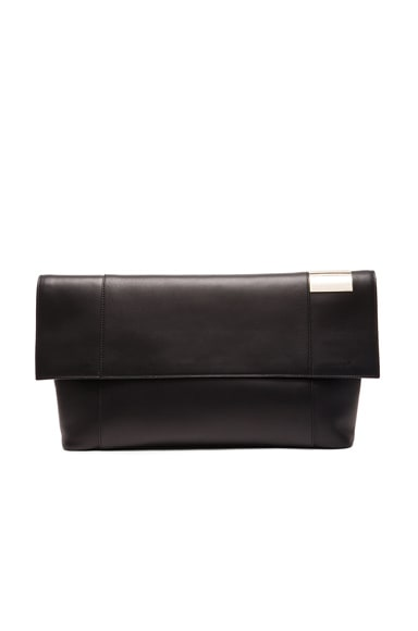 Victoria Beckham Flat Calf Folded Talullah in Black