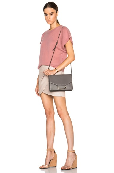 Grainy Calf Money Clutch