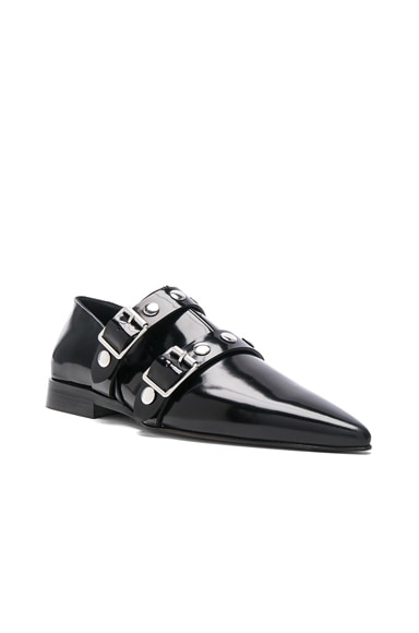 Leather Buckle Flats