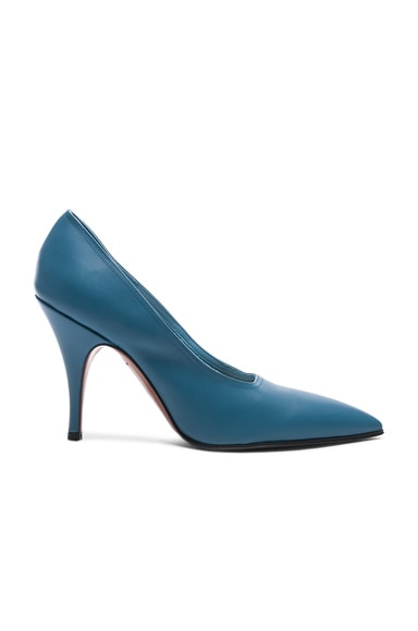 Leather Dorothy Stiletto Pumps