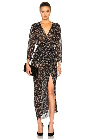 Veronica Beard Merrill Drawstring Dress in Black Multi