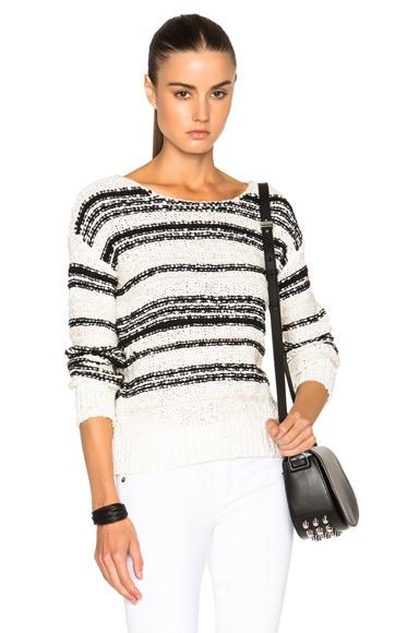 Veronica Beard Cahuilla Sweater in Black & Ivory