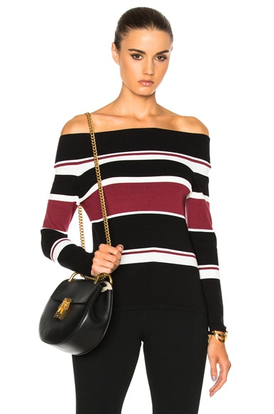 Veronica Beard Audrey Off the Shoulder Sweater in Multi