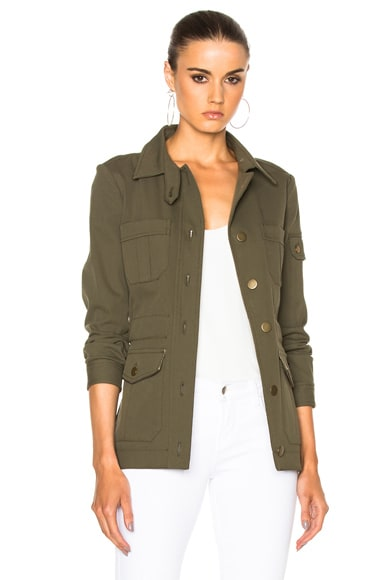Veronica Beard Camp Jacket in Army Green