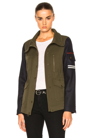 Skyline Combo Sleeve Army Jacket