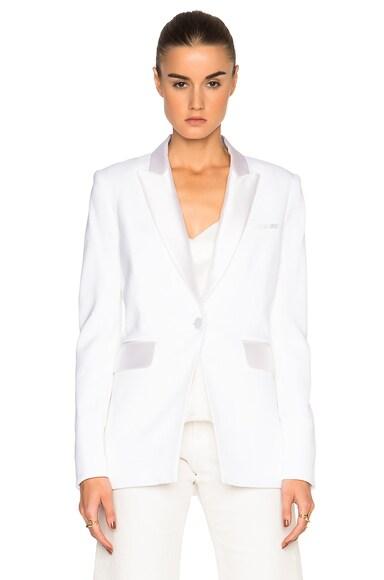 Veronica Beard FWRD Exclusive Turks Tuxedo Blazer in White