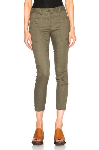Veronica Beard Caladium Cargo Pants in Army Green