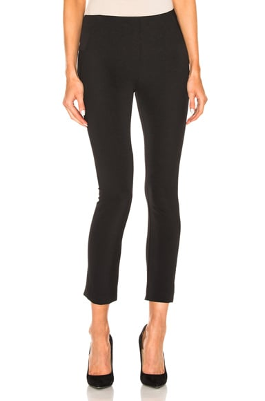 Veronica Beard Zip Back Scuba Pant in Black