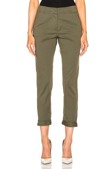 Veronica Beard Coach Cuffed Pant in Army