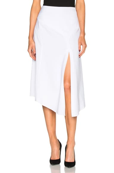 Veronica Beard Maverick Midi Skirt in White