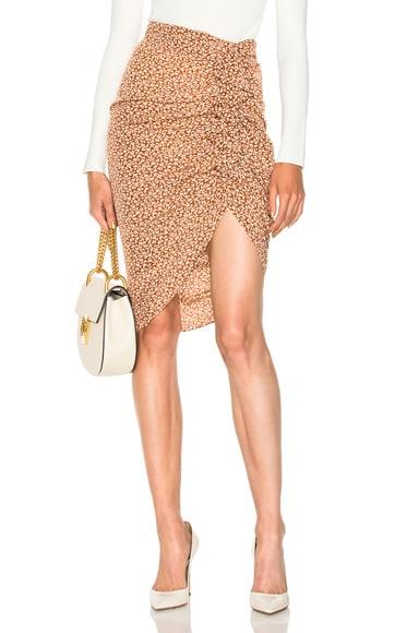 Hazel Side Ruched Ruffle Skirt Veronica Beard