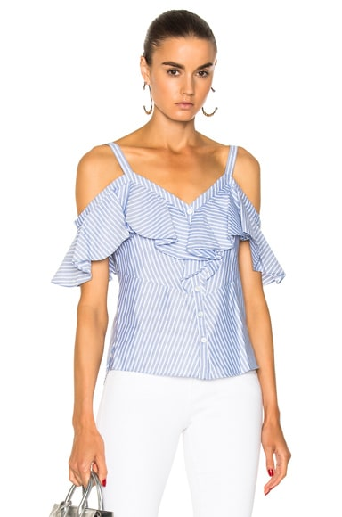 Grant Off the Shoulder Ruffle Shirt