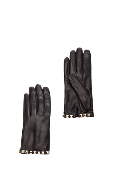 Rockstud Leather Gloves