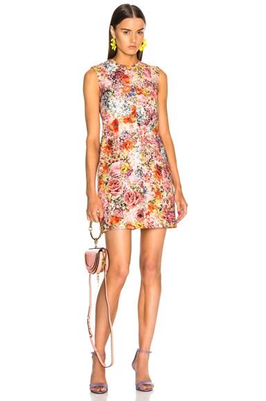 Printed Sleeveless Mini Dress