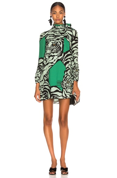 Georgette Tiger Print Dress