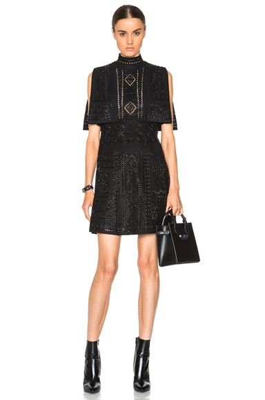 Valentino Embroidery Dress in Black