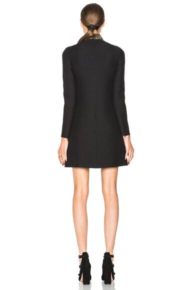 Macrame Plastron Long Sleeve Dress