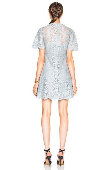 Flutter Sleeve A Line Lace Dress