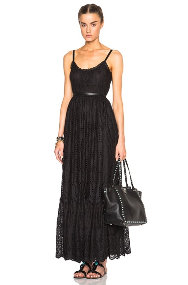 Valentino Sleeveless Dress in Black
