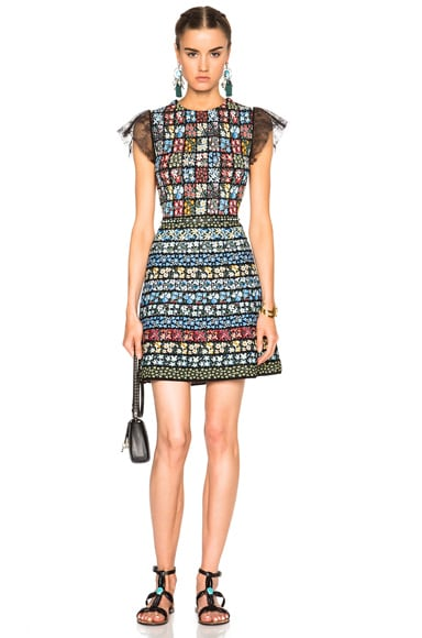 Valentino Embroidered Mini Dress in Multi