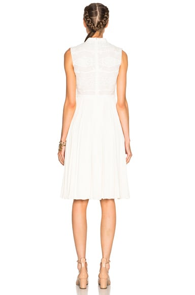 Sleeveless Dress with Macrame Top