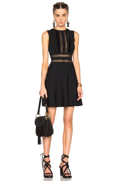 Valentino Sleeveless A Line Dress in Black